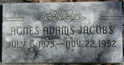 Agnes <i>Adams</i> Jacobs