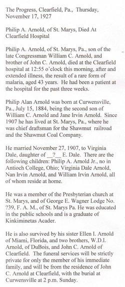 Philip Alan Arnold, Sr