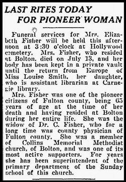 Elizabeth Louise <i>Walker</i> Fisher