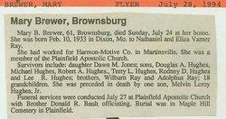 Mary B. <i>Ray</i> Brewer