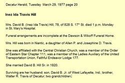 Inez Ida <i>Travis</i> Hill