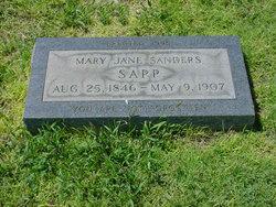 Mrs Mary Jane <i>Sanders</i> Sapp