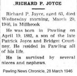 Richard P Joyce