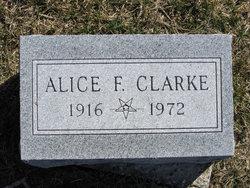 Alice F Clarke