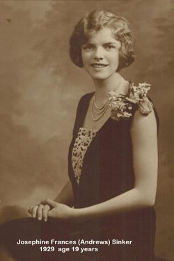 Josephine Frances <i>Andrews</i> Sinker