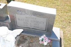 Mattie Lee <i>Lindsey</i> Alford