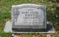 Mary Louise <i>Roberts</i> Gregory