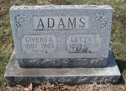Letta Travis Lettie <i>Small</i> Adams