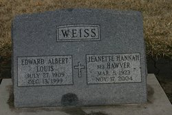Jeanette Hannah <i>Hawver</i> Weiss