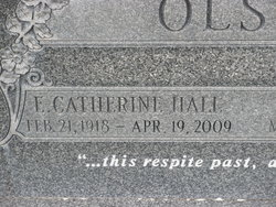 Esther Catherine <i>Hall</i> Olson