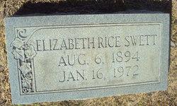 Mary Elizabeth Lizzie <i>Rice</i> Swett