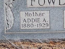 Addie A Fowler