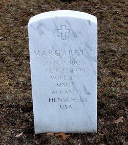 Margaret D Henschel