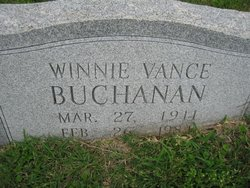 Winnie <i>Vance</i> Buchanan