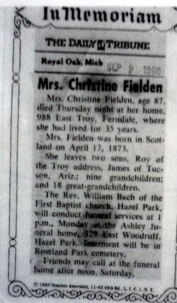 Christine <i>Haggerty</i> Fielden