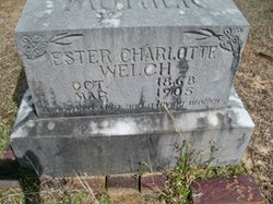 Esther Charlotte <i>Cantrell</i> Welch
