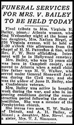 Virginia Evelyn <i>Walker</i> Bailey