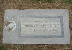 Frances Velma Aunt Velma Vanderford