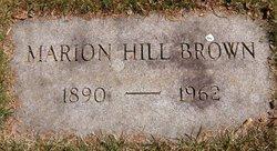Marion <i>Hill</i> Brown
