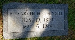 Elizabeth H Councill