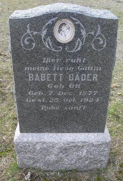Babett <i>Ott</i> Bader