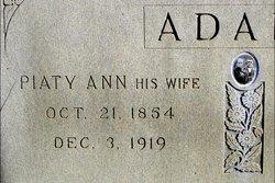 Piaty Ann <i>Morgan</i> Adams