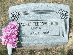 Agnes <i>Tedrow</i> Rhine