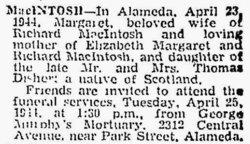Margaret <i>Disher</i> MacIntosh