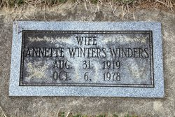 Annette <i>Winters</i> Winders