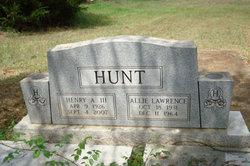 Allie Mae <i>Lawrence</i> Hunt