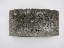 Edward W Althof