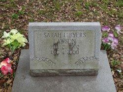 Sarah L <i>Lawson</i> Byers
