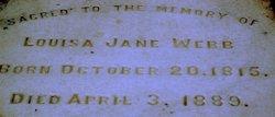 Mrs Louise Jane <i>Robertson</i> Webb