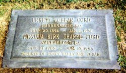 Virginia Lilly Kirk <i>Tharpe</i> Cord