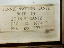Virginia Jennie <i>Watton</i> Gantz