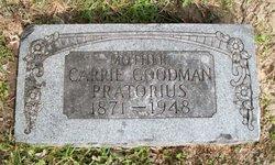 Carrie <i>Francis</i> Goodman Pratorius