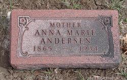 Anna Marie <i>Fredricksen</i> Andersen