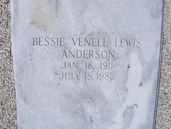 Bessie Venell <i>Lewis</i> Anderson