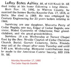 LeRoy Bates Ashley