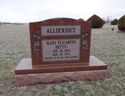 Mary Elizabeth Betty Allderdice