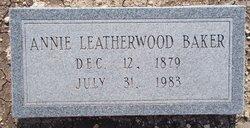 Annie <i>Leatherwood</i> Baker