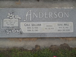Ione <i>Hall</i> Anderson
