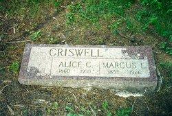 Alice Caroline <i>Byram</i> Criswell