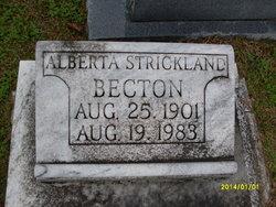 Alberta <i>Strickland</i> Becton