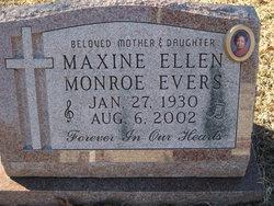 Maxine Ellen <i>Monroe</i> Evers