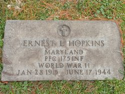 PFC Ernest L Hopkins