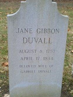 Jane Jennie <i>Gibbon</i> Duvall