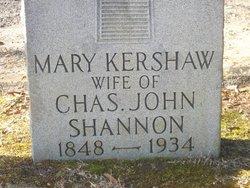 Mary Martin <i>Kershaw</i> Shannon