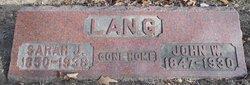 John W. Lang