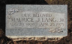 Maurice Joseph Lang, Jr